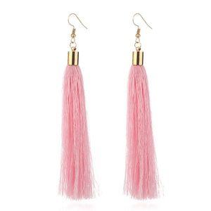Jewelry - NEW boho pink tassel earrings